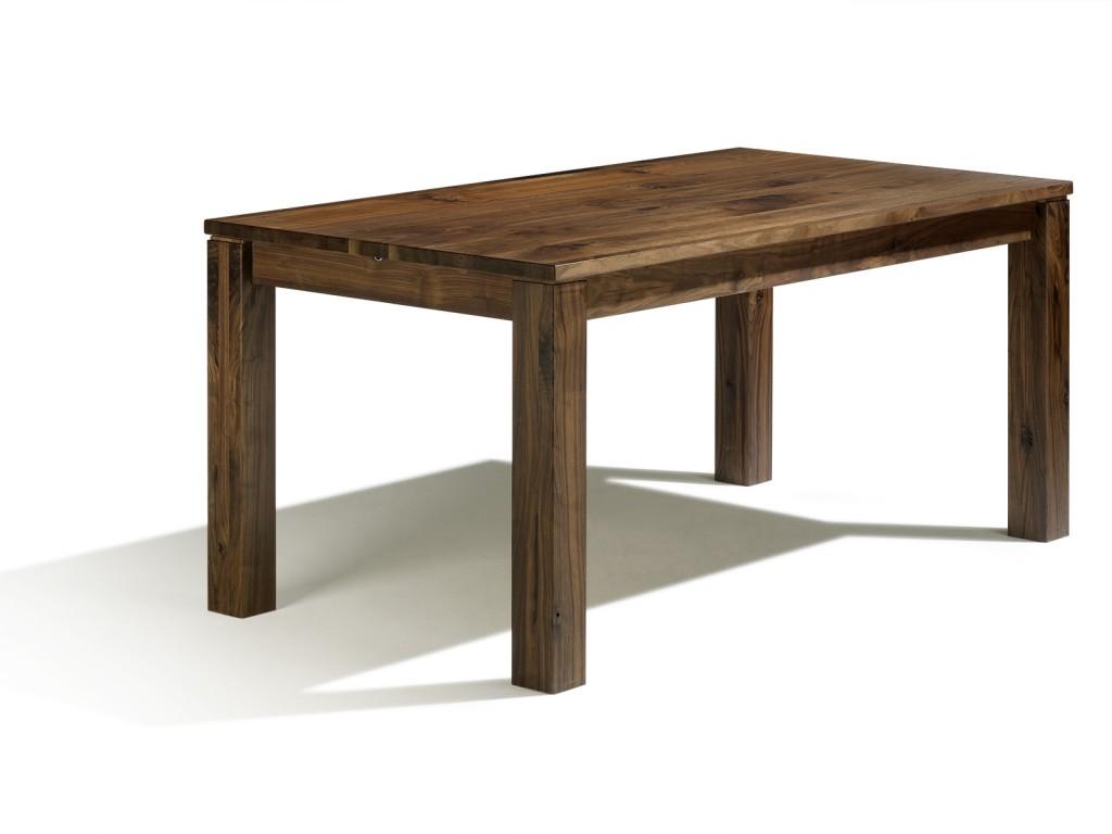 Esstisch auf ma ausziehbar in nussbaum 140cm x 80cm mit for Esstisch nussbaum ausziehbar 140