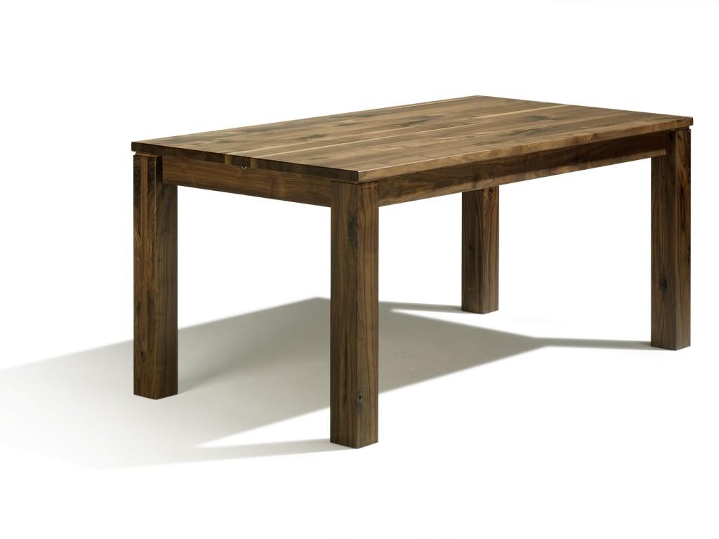 esstisch auf ma ausziehbar in astnussbaum 130cm x 80cm mit kopfkulissenauszug von 60cm. Black Bedroom Furniture Sets. Home Design Ideas
