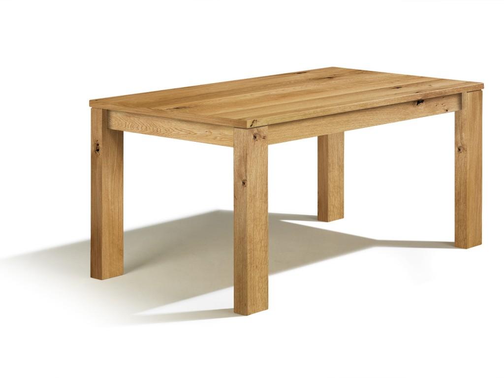 Massivholztisch nach ma g nstig in asteiche esstisch for Esstisch 70 x 120 ausziehbar