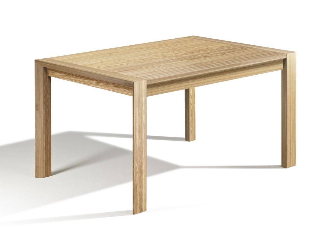 design gradliniges design tisch loja esstisch ausziehbar esche in 170cm x 100cm 80cm. Black Bedroom Furniture Sets. Home Design Ideas