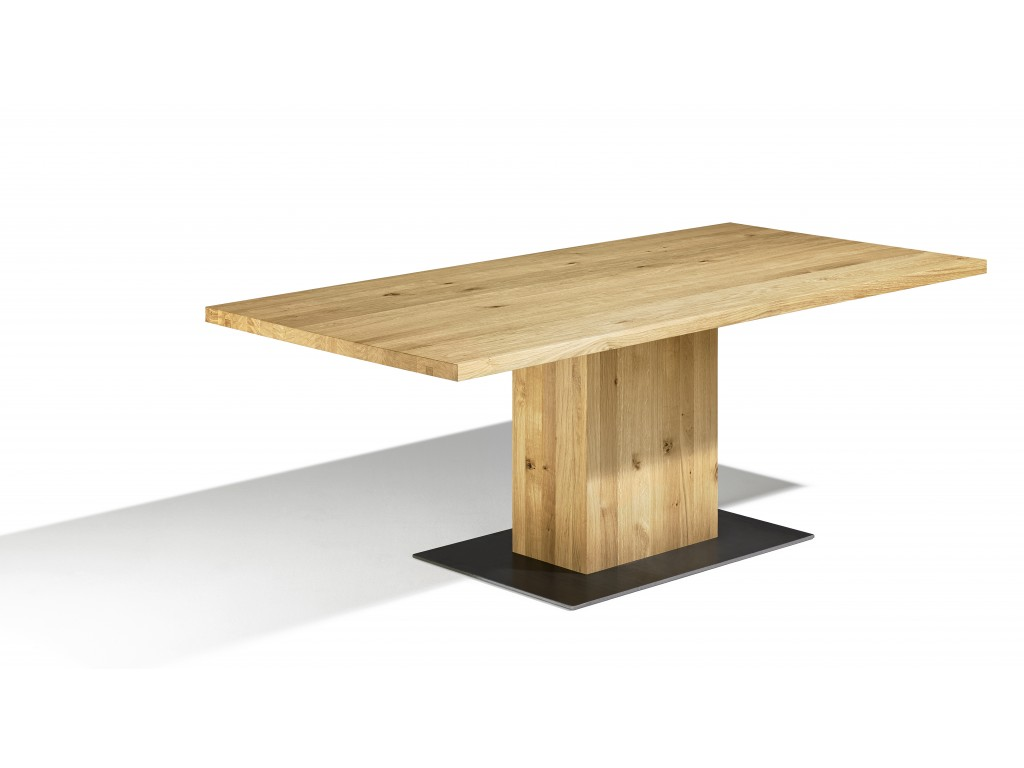 table pied pilier muzzano sur mesure avec rallonges non int gr es en option. Black Bedroom Furniture Sets. Home Design Ideas
