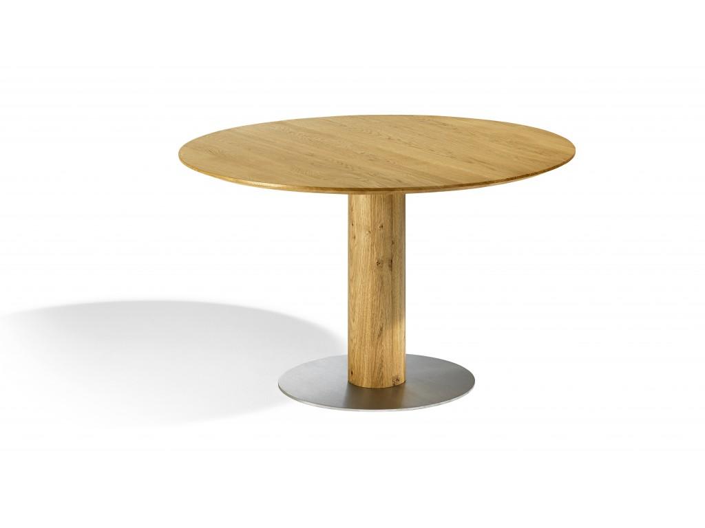 Dimensioni Tavolo Sala Da Pranzo tavolo per sala da pranzo tondo con base in acciaio inox sala