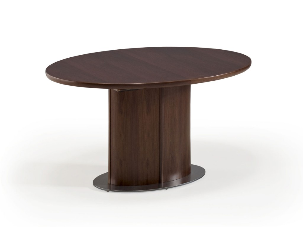 Ovaler Ovaler Esstisch in Nussbaum oder Eiche